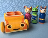 Team Umizoomi inspired Peg Doll and Car Toys