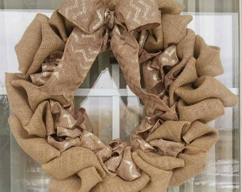 Custom Burlap Wreath