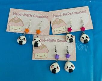 Kawaii onigiri earrings