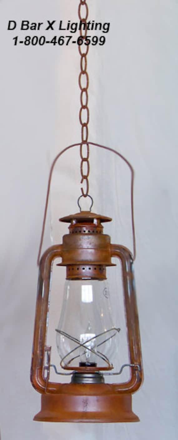 Rustic Lantern Pendant Light Fixture DX735 15