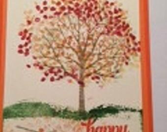 Fall Card greeting optional