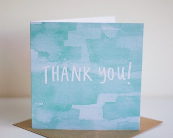 Thank You! Square Greeting Card