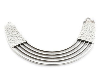 Midsole - metal connector 5 bronze or silver  breastplate necklace lines 116x22mm