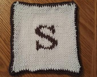 100% Cotton Monogram Trivet, Pot Holder