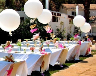 Tissue Paper Tassel Garland with Clear 36 inch balloon and matching confetti inside balloon- CUSTOM COLOR - Tissue Paper Tassel - Birthday