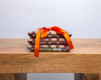 Pure Wool Lavender Scented Sachets in Pistachio Multispot