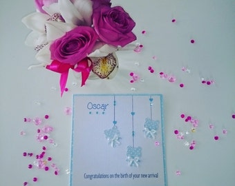 Handmade Personalised New Baby Card