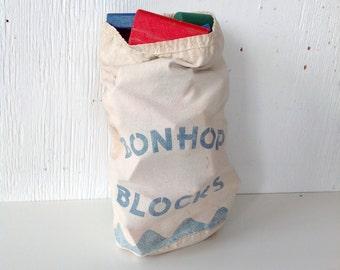 1950s bon hop wooden toy blocks