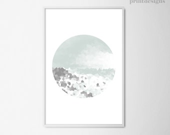 Printable Minimal Poster, Modern Abstract Circle, Minimal Print, Scandinavian Print, Nordic Print, Abstract Poster, INSTANT DOWNLOAD
