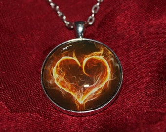 Flaming Heart Pendant