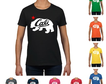 Cali Bear White Women's T-Shirt