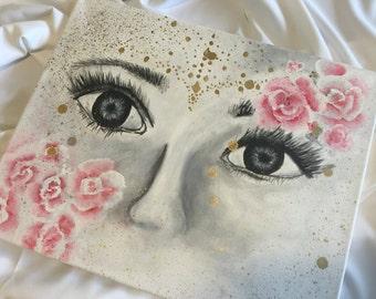 Floral Artwork for Women's Bedroom, Living Room in Canvas
