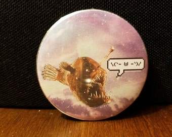 "Angler Fish Are Kawaii 2.25"" Pinback Button"