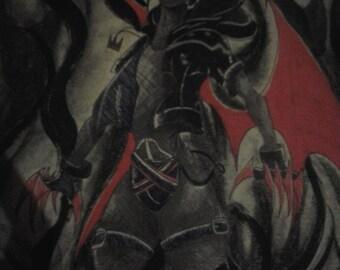 11in x 14in Dark Sora Poster - Kingdom Hearts