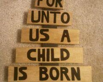 Wooden Christmas Tree with Verse