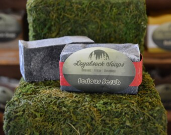 Serious Scrub Bar Soap - organic, handmade, all natural, cold process, vegan