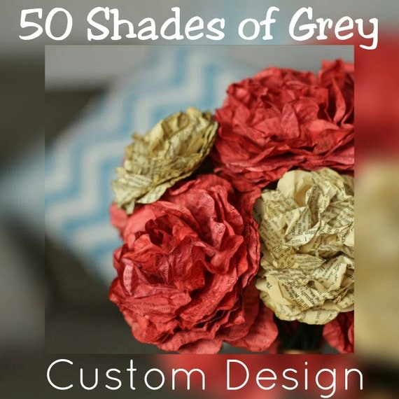 Custom made 50 shades of grey bouquet using by for Second 50 shades of grey