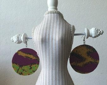 Purple Moon Earring