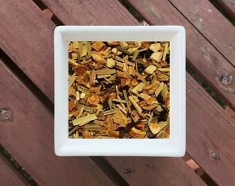 Citrus Fields - Organic Herbal Tea, Citrus Tea, Green Tea, Lemongrass, Lemon Peel, Orange Peel, Elderberry, Loose Leaf Tea, Vegan Tea