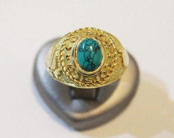 """CORSICA"" made of 750 gold Signet Ring"