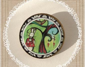 PIN rabbit, rabbit of Alice, alice in wonderland