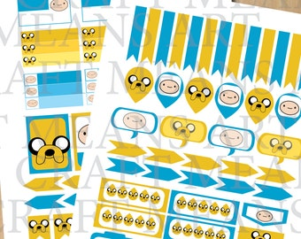 Printable Planner Stickers for Planner - Adventure Time Theme