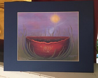 Sacred ground is found - Giclee Art Print by Beth Budesheim, 11x14 Matted Size