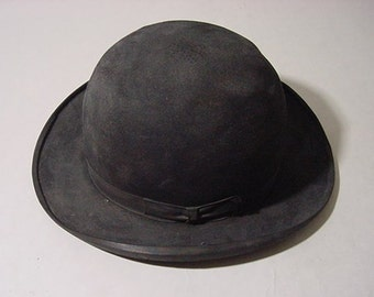 "Antique ca. Late 1880s to 1890s ""Butch Cassidy"" style Stetson Bowler Hat"