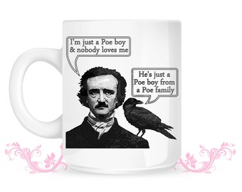 Edgar Allan Poe Mug  - poe boy raven queen bohemian