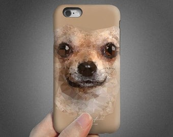 Chihuahua iPhone 6 case, iPhone 6s case, iPhone 6 plus case, iPhone 6s Plus case, iPhone 5s case, SE case, tough case, brown khaki T699