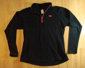 Helly Hansen Fleece Black Neon Pink 90s Vintage