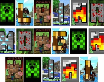Mine craft 5.00 per tile any name you want