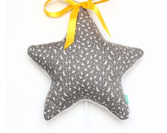 Mobile mobile baby star musical origami grey yellow Sunny Origami