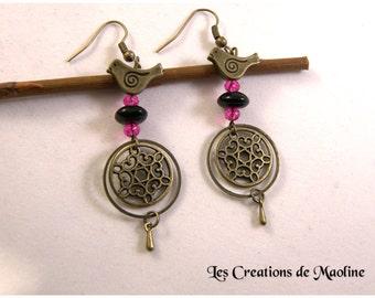 Flower Earrings * creators jewelry *.