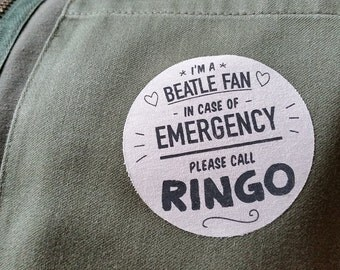 Iron-on Beatles patch
