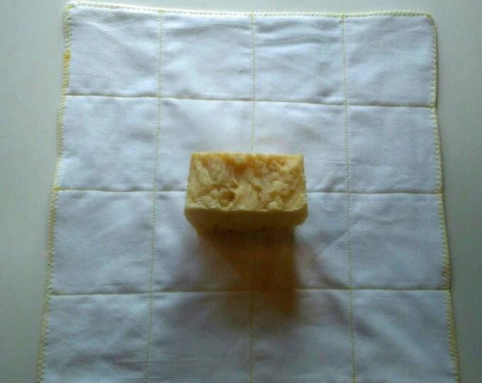 1 Dozen, 2 Ply, Un-Paper Towels, with 1 Homestead Helper Soap, Birdseye Towels, Kitchen Towels