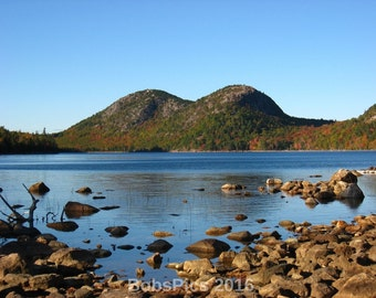 Jordon Pond and Bubble Mountains on Mount Desert Island,ME. One of my favorite places