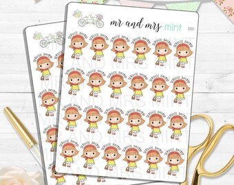 Light Skin Freckles JW Service Day Planner Stickers service day  to do reminder jehovah witnesses pioneer service erin condren | 200
