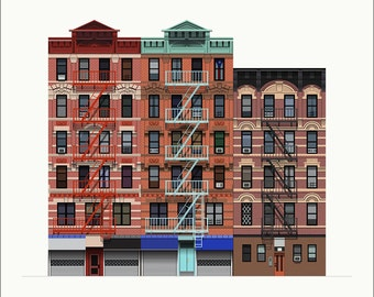 Delancey Street Tenements Print