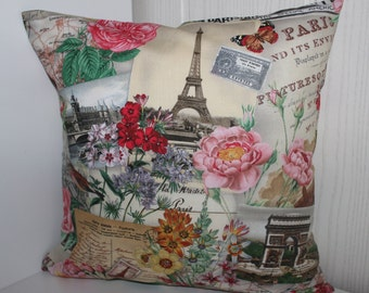 Cushion cover Paris, Eiffel Tower - all sizes feasible 40 x 40 cm