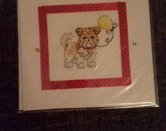 Dog celebration card