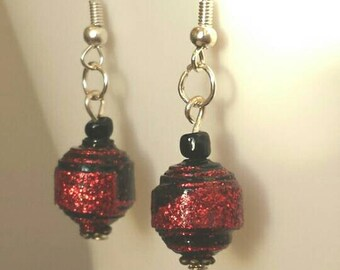 Earrings from paper beads(E5)
