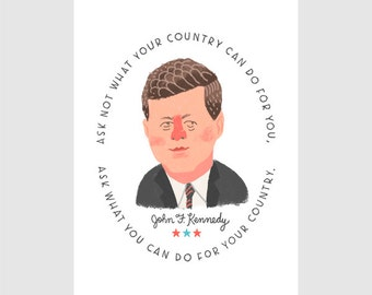 Kennedy Quote Print