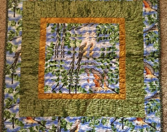 Fractured Birds Small Quilt