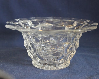 Clear Glass Cut Condiment/Candy Dish, #17