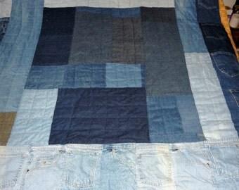 Blue Jean Pocket Quilt