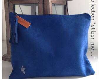 Blue chic hand pouch