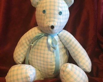 Blue Gingham Bear
