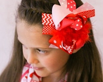 Valentine Hairbow Ready to ship free shipping