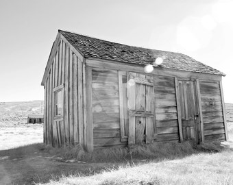Bodie Ghost Town Photo Black and White Landscape Photo California Art Abandoned House America West Wall Art Home Decor Olden Days Print